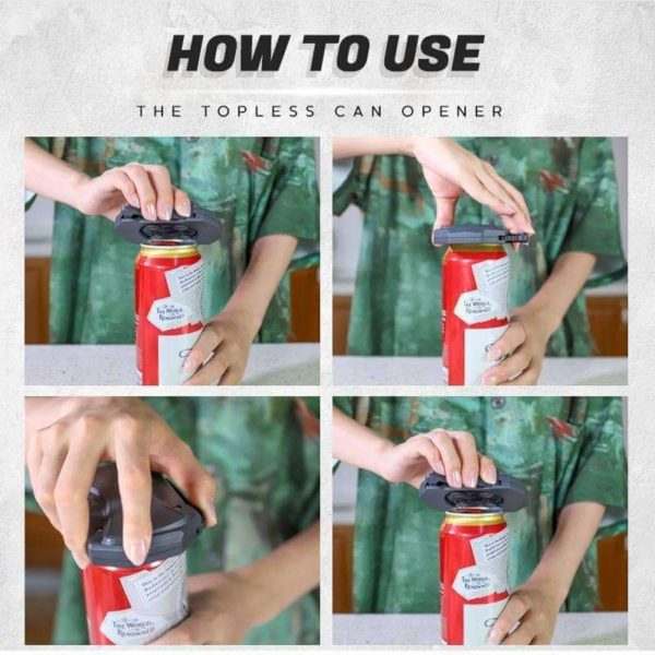 Can opener, topless can opener, can opener how to use, How to use a can opener, how to use the can opener, how to open a can with a can opener - HahaGet