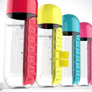 2 In 1 Water Bottle And Pill Organizer - HahaGet
