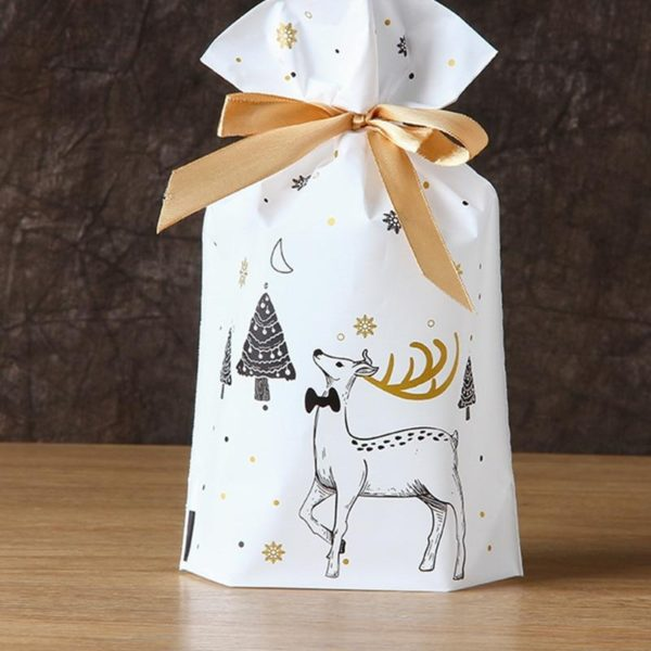 Christmas Gift Bags With Drawstring 10pcs, All You Want For Christmas.