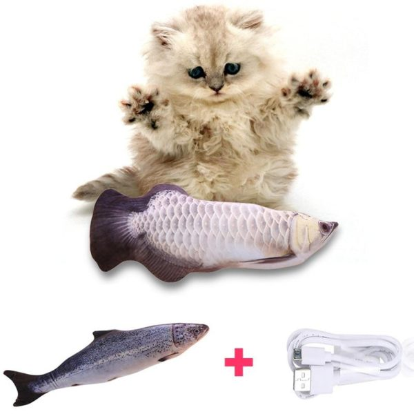 flopping fish cat toy, moving fish cat toy   HahaGet