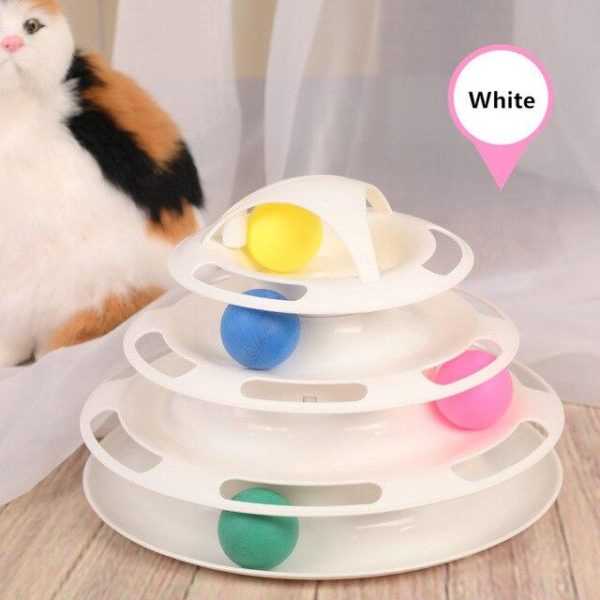 Cat Toys Interactive Track Ball Toy (Cat IQ Training Game Intelligence) HahaGet