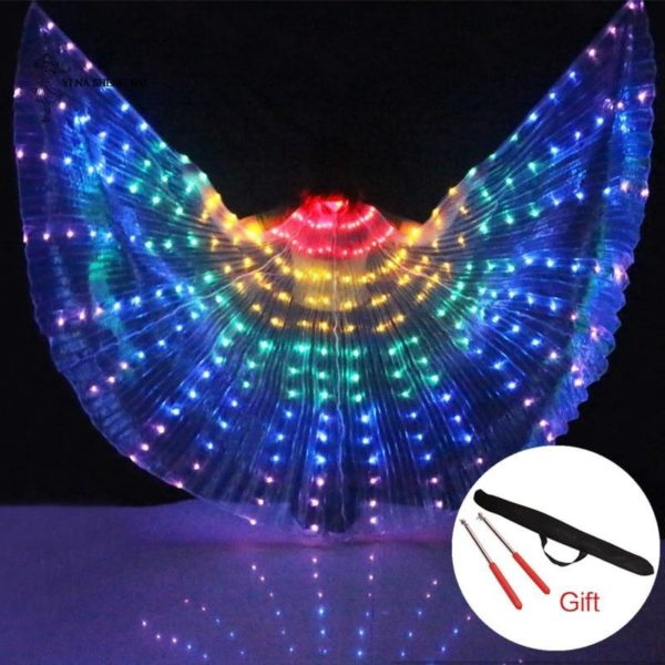 Rainbow Wings - Led Butterfly Costume - HahaGet