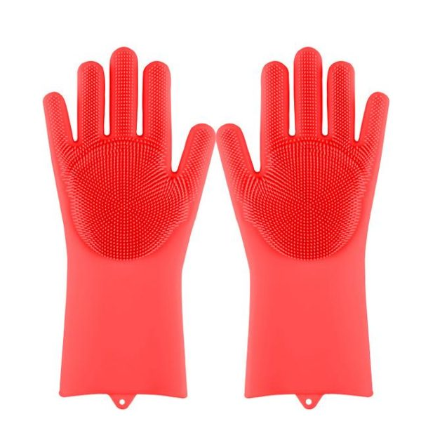 Silicone Scrubber Bristly Gloves - HahaGet