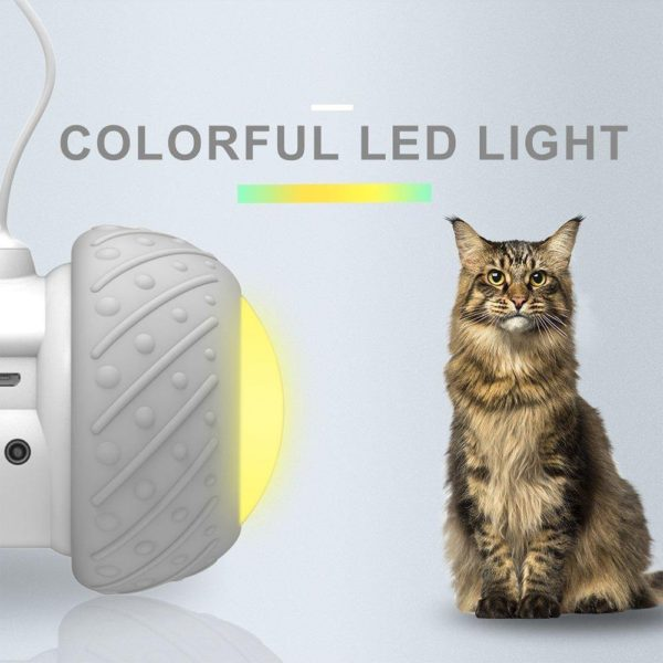 Smart Electronic Cat Toy(Automatic Sensing Obstacles /LED Wheel) - HahaGet
