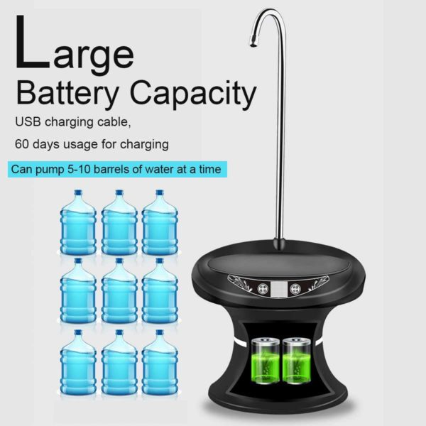 USB Rechargeable Electric Wireless Portable Tray - Typed Water Dispenser - HahaGet